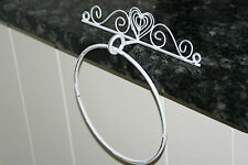 Lovely painted metal towel ring - Fair trade