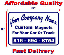 """Two Custom Magnetic Signs  18"""" X 24""""    Business-Political-Events-Ads"""