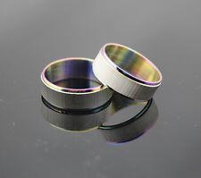 10stk Edelstahl Ringe ring Platin-multicolor-Design bunt SonderPosten