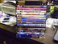 (18) Great 80's DVD Lot: Goonies (3) Back to the Future Uncle Buck Animal House