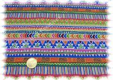 Ethnic Stripe orange bunt Baumwolle Popeline Ethno Streifen Hilco 50 cm
