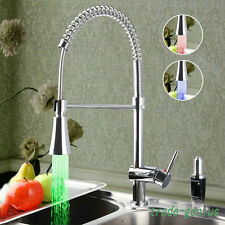 FG198 LED Chromed Pull Out up&down Kitchen Sink Mixer Tap  Swivel Body Faucet
