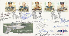 FDC RAF Full Set of  Royal Air Force Stamps Signed 11 pilots, Crew