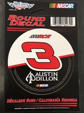 "NASCAR Austin Dillon #3 3"" Round Decal Sticker By Wincraft"