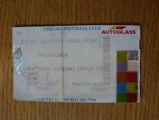04/03/1999 Ticket: Chelsea v Valerenga [European Cup Winners Cup] Date Not Print