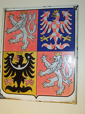 Czech Republic Metal Plaque Coat of Arms Bohemia Moravia Silesia Czechoslovakia