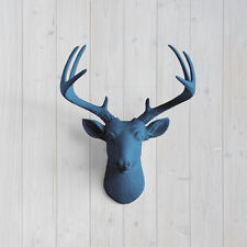 Wall Charmers Navy Mini Deer Blue Faux Head Fake Animal Stag Antler Taxidermy