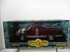 1/18 SCALE ERTL AMERICAN MUSCLE MAROON '97 FORD F-150 XLT