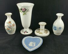 Job lot of Wedgwood ornaments,  Jasperware,  Clementine, Kutani Crane Vases