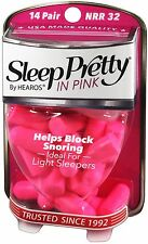 *Pink Hearos Sleep Pretty in Pink Earplugs - 14 Pairs - Original Style is back