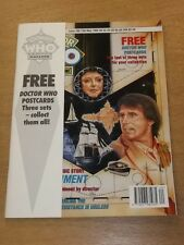 DOCTOR WHO #186 1992 MAY 13 BRITISH WEEKLY MONTHLY MAGAZINE DR WHO FREE GIFT