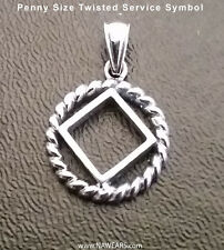 Narcotics Anonymous NA Twisted Wire Service Symbol Pendant - 925. Ster Silver