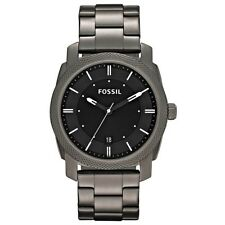 Fossil Men's FS4774 Black Dial Smoke Ion Plated Stainless Steel Bracelet Watch