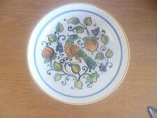 """Ceramica Nova Deruta Italy  Pasta Bowl   Partridge in Fruit Tree  D 11""""  H 2 3/8"""