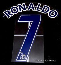Manchester United Ronaldo 7 nombre/número Set Camiseta de fútbol Lextra 07-13 Azul