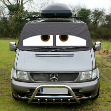 Mercedes Benz Vito Front Window Screen Cover Black Blind Frost Wrap Eyes Sleepy