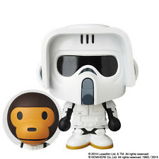 MEDICOM TOY x STAR WARS x A BATHING APE BABY MILO Scout Trooper VCD Figure BNIB