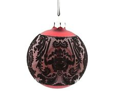 Disney Parks Haunted Mansion GHOST Wallpaper RED Glass Ball Ornament NWT New
