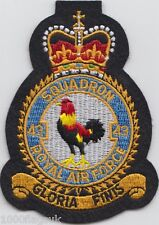 RAF no. 43 Squadron Royal Air Force Embroidered Crest Badge Patch MOD Approved