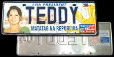 2004 Philippine PRESIDENT ARROYO COMMEMORATIVE License Car Plate TEDDY