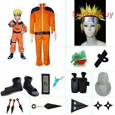 Naruto Uzumaki Hokage Halloween Cosplay Costume Naruto set with wig