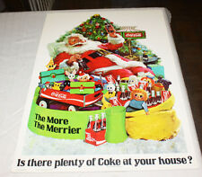 Super Rare 1972 Coca Cola Counter Display Santa Claus From Canada Coke LTD