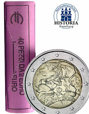 40 x Italien 2 Euro Gedenkmünze 2008 bfr. 60 Jahre Menschenrechte in Sichtrolle