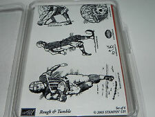 Stampin Up Rough & Tumble Football Stamp Set of 6 NEW UM Rare/Retired
