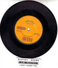 JIM REEVES  Distant Drums & I Won't Forget You  45 record + juke box strip NEW