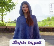 ~ Pull-Out Knitting Patterns For Lady's Hooded Poncho & Scarf ~