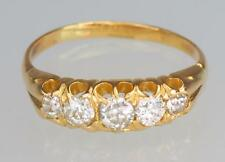 Vintage 18ct Gold 0.75ct Diamond Ring Antique Old European Cut Diamonds