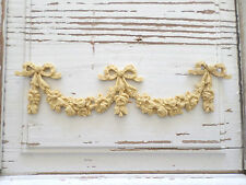 ARCHITECTURAL ANTIQUE ROSE SWAGS  FURNITURE APPLIQUE WOOD RESIN  *NEW*