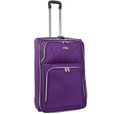 "US Traveler Segovia Purple 26"" Light Expandable Rolling Luggage Suitcase Bag"