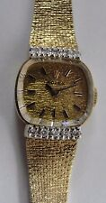 Vintage Ladies Diamond Rolex 14k Yellow Gold Watch #BX2-RLX63