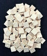 "100 DIY Ceramic Mosaic Tile Squares -3/4"" BISQUE"