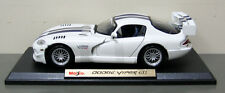 2009 Dodge Viper GT2 Diecast Model Car - Maisto - 1:18 Scale  - White