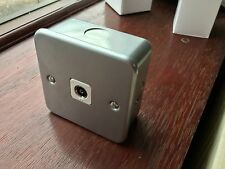 One Electrical Grey Metalclad Screened TV Socket 1 Gang White Ins 40mm backbox