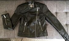 NEW Vince Camuto XS JACKET fitted faux leather women's