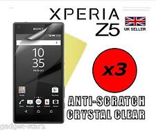 3x HQ CRYSTAL CLEAR SCREEN PROTECTOR COVER SAVER FILM GUARD FOR SONY XPERIA Z5