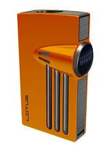 NEW LOTUS ORION L52 TWIN TORCH CIGAR LIGHTER - ORANGE & GUN