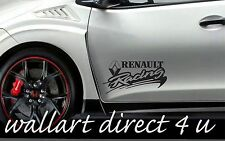 2 Renault RACING DECALS CAR Bumper Vinyl Stickers Wing Megane