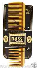 NEW BASS BRUSHES LARGE WOOD COMB WIDE TOOTH ALL HAIR TYPES DAILY LIGHT & SMOOTH