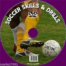 FOOTBALL COACHING & SOCCER DRILLS SKILLS ROUTINES ALL LEVELS VIDEO DVD + DATA CD