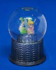 Tinker Bell on Silver Thimble Mini Snowglobe 17775 Disney Peter Pan Retired