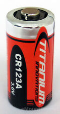2PC Titanium Innovations CR123A 3V Lithium Photo Battery,  Brand New