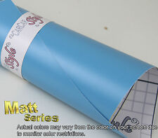 【Matt Light Blue】1m(39.4in) x1.52m(59.8inch) Vehicle Wrap Vinyl Sticker Film