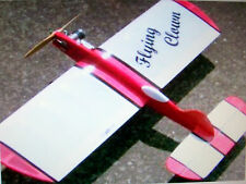 "Vintage ""SUPER DUPER"" FLYING CLOWN OT UC Stunt Model Airplane PLAN Enlarged 150%"