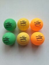 Outdoor Table Tennis Balls x6 neon Colour Blind 40 Dunlop Heavy Ping Pong Balls