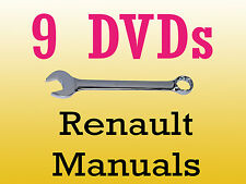 Renault dialogys workshop manuals parts wiring schematics 9 dvd