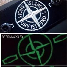 **@SALE@ NEW SUPERB REPLACEMENT RARE STONE ISLAND 'GLOW' BLACK/WHITE BADGE SET**